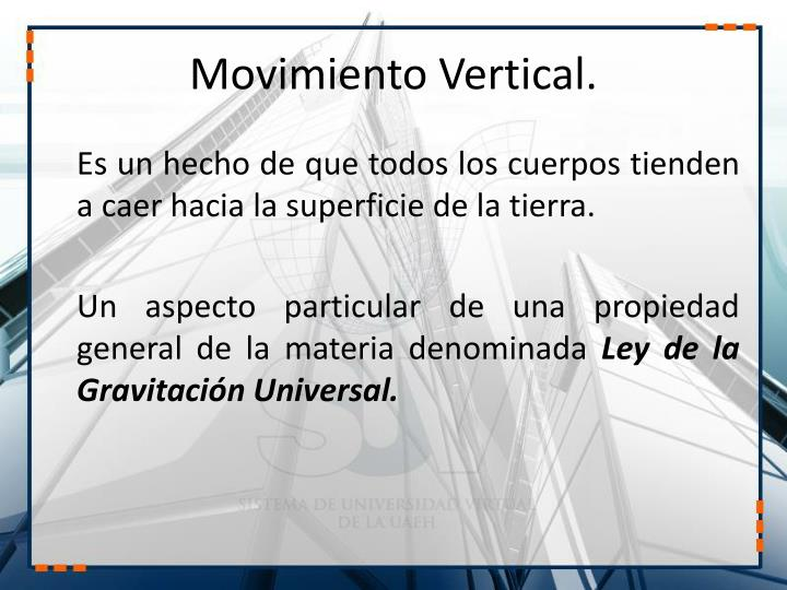 Movimiento vertical