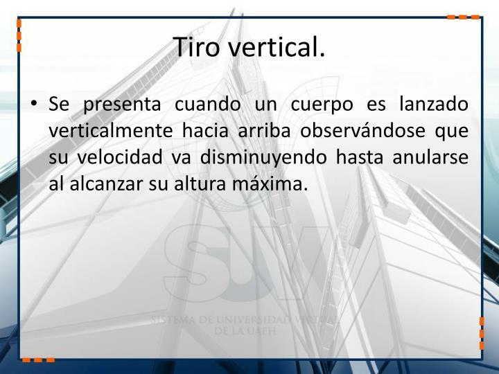 Tiro vertical.