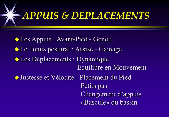 APPUIS & DEPLACEMENTS