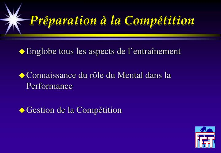 Pr paration la comp tition