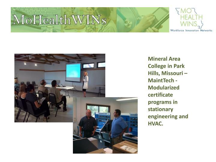Mineral Area College in Park Hills, Missouri –