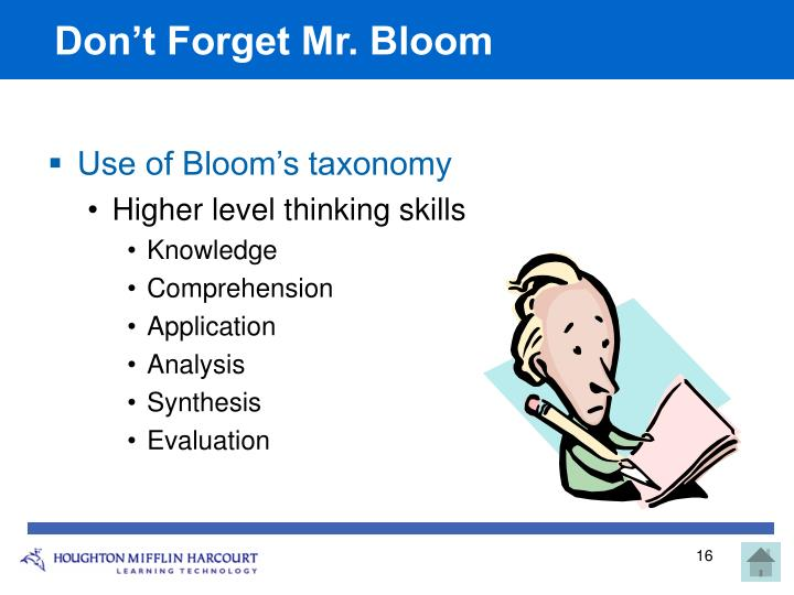 Don't Forget Mr. Bloom
