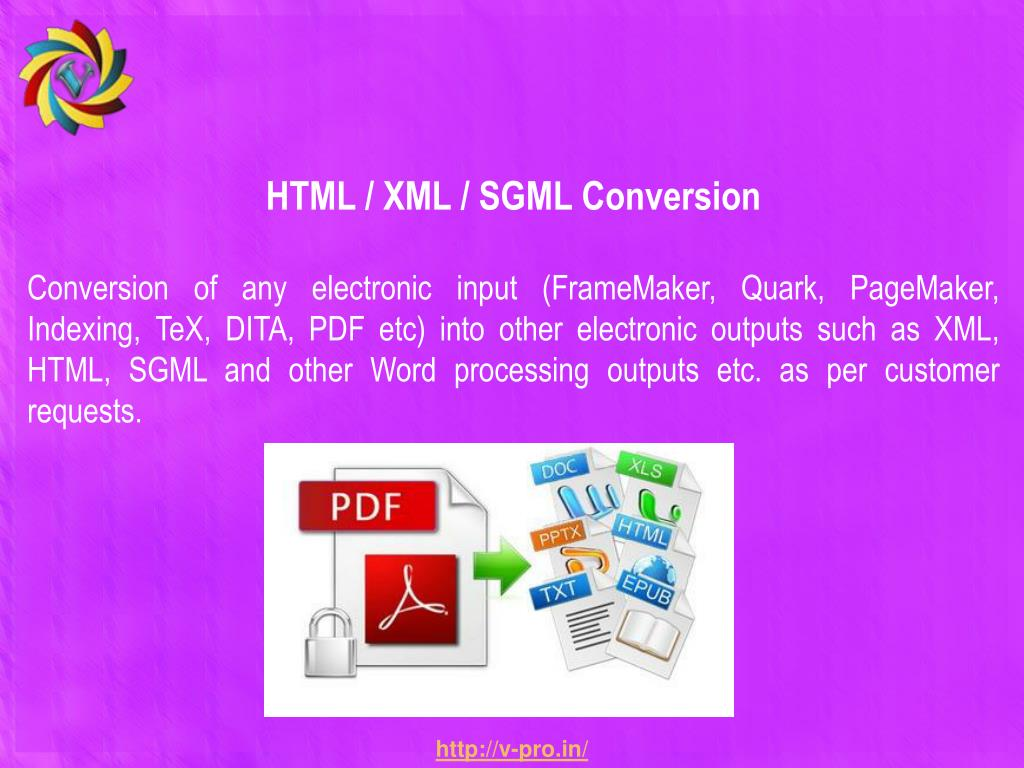 HTML / XML / SGML Conversion