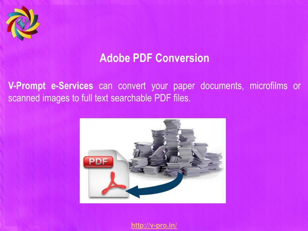Adobe PDF Conversion