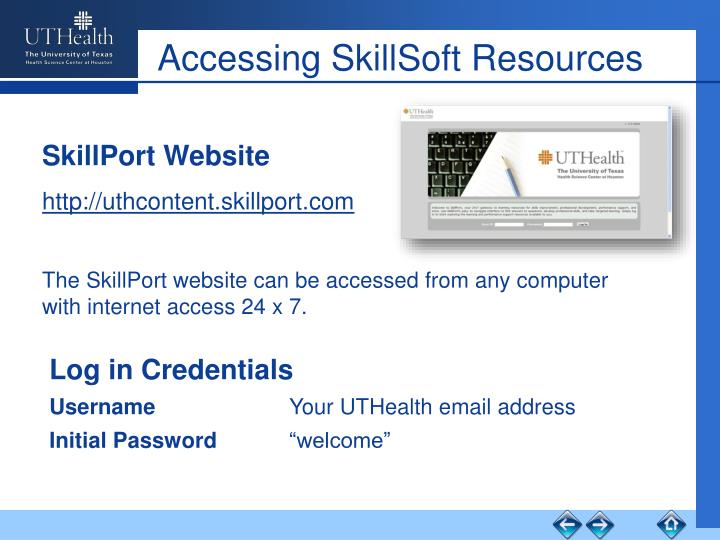 Accessing SkillSoft Resources