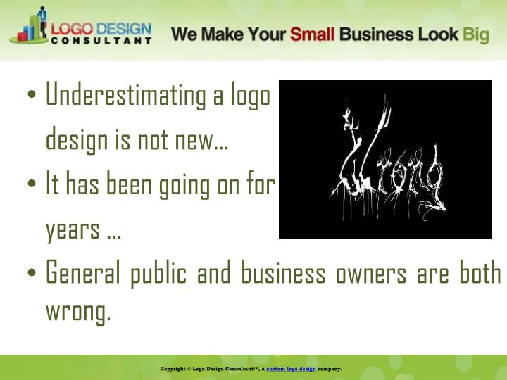 Underestimating a logo