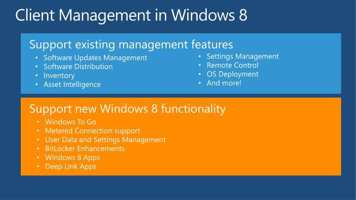 Client Management in Windows 8