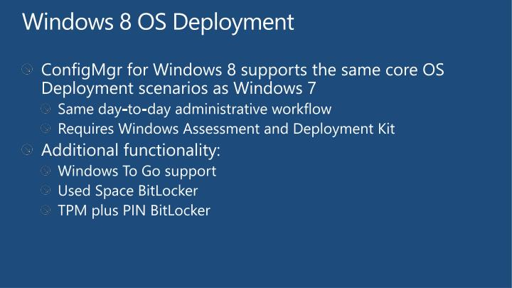 Windows 8 OS Deployment
