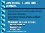 some options to taxing remote commerce25