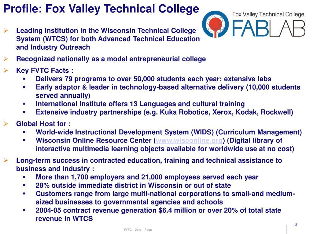 Profile: Fox Valley Technical College