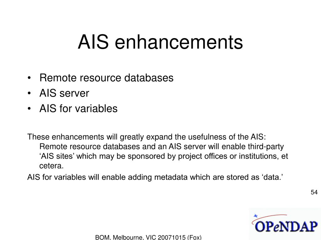 AIS enhancements
