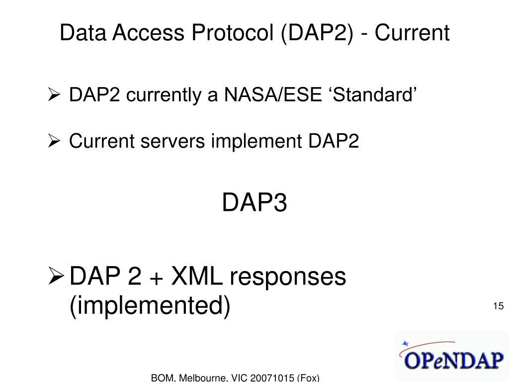 Data Access Protocol (DAP2) - Current