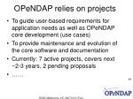 opendap relies on projects