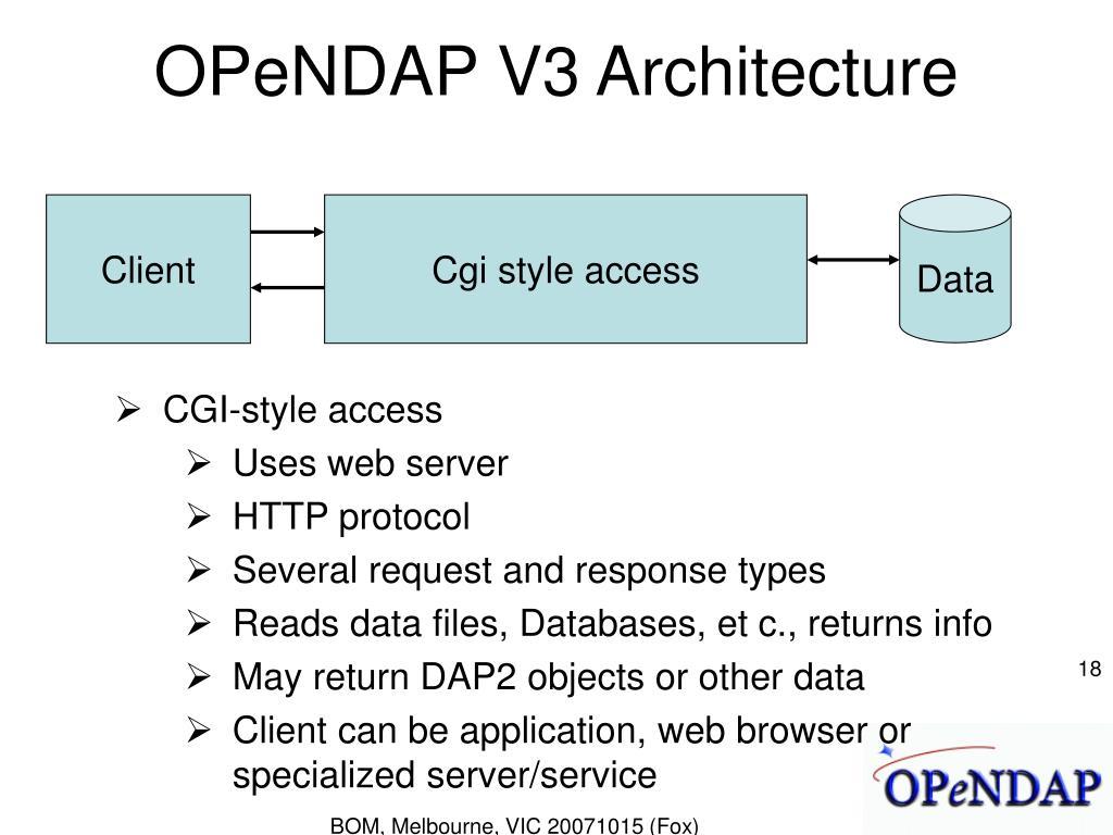 OPeNDAP V3 Architecture