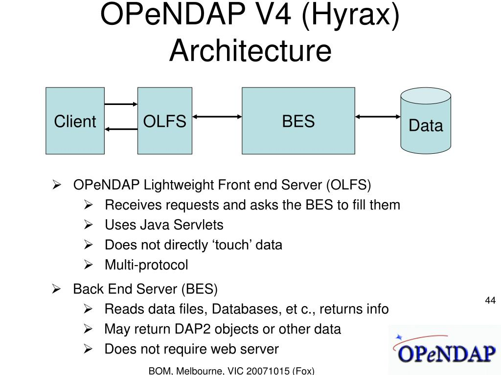 OPeNDAP V4 (Hyrax) Architecture