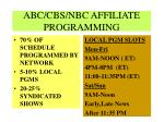 abc cbs nbc affiliate programming