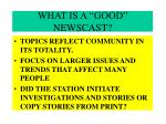 what is a good newscast23