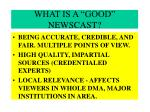 what is a good newscast24