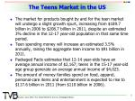 the teens market in the us