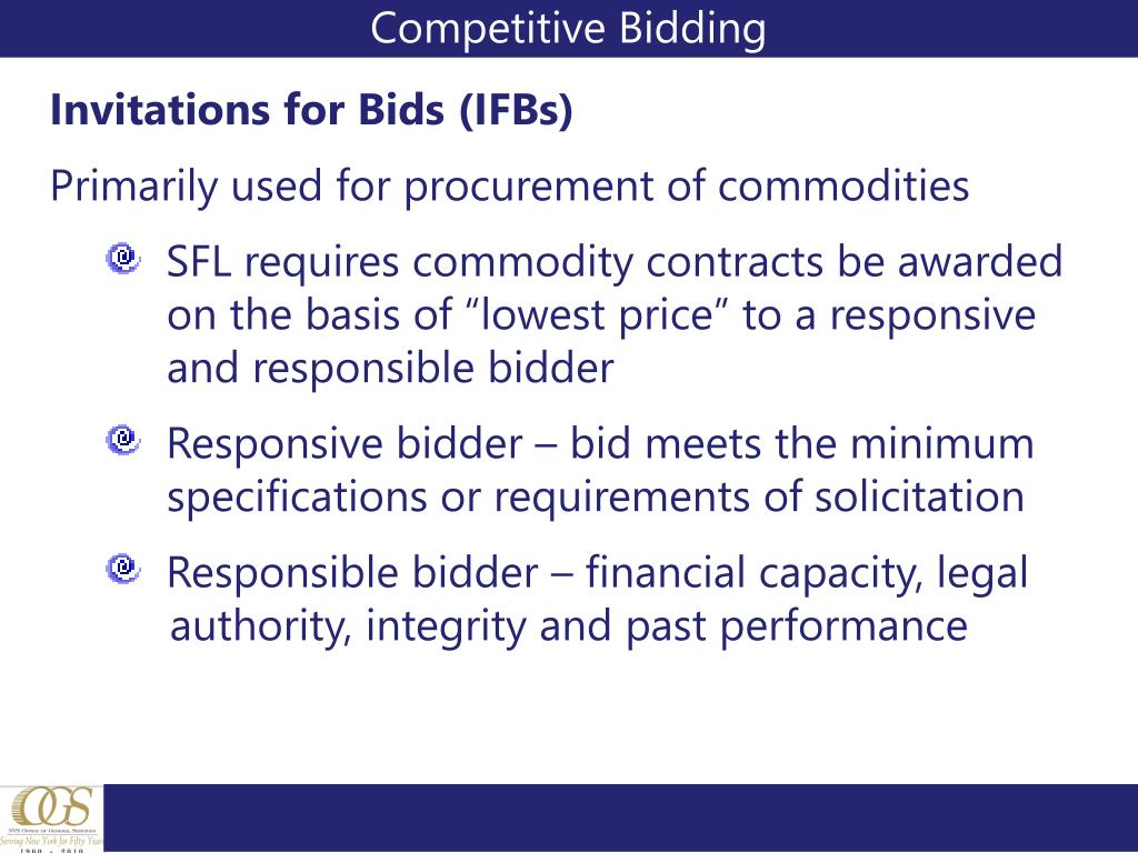 Competitive Bidding