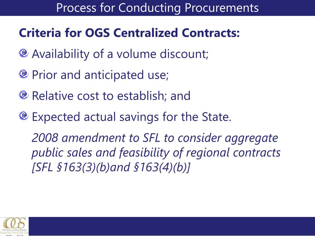 Process for Conducting Procurements