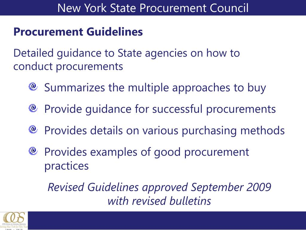 New York State Procurement Council