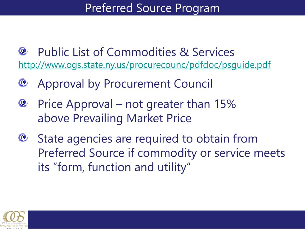 Preferred Source Program