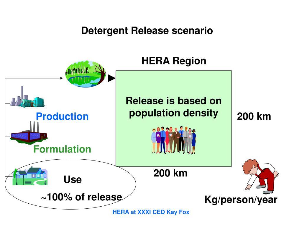 Detergent Release scenario