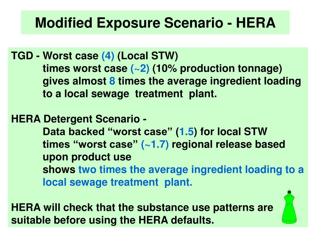 Modified Exposure Scenario - HERA