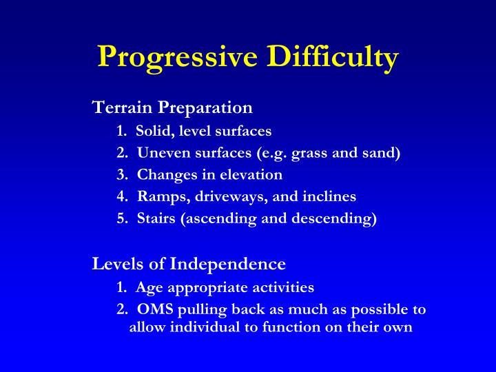 Progressive Difficulty