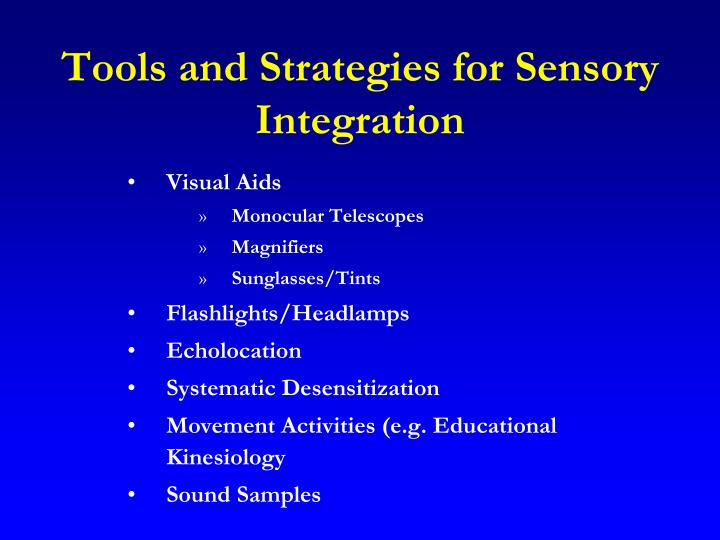Tools and Strategies for Sensory Integration