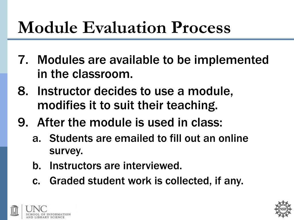 Modules are available to be implemented in the classroom.
