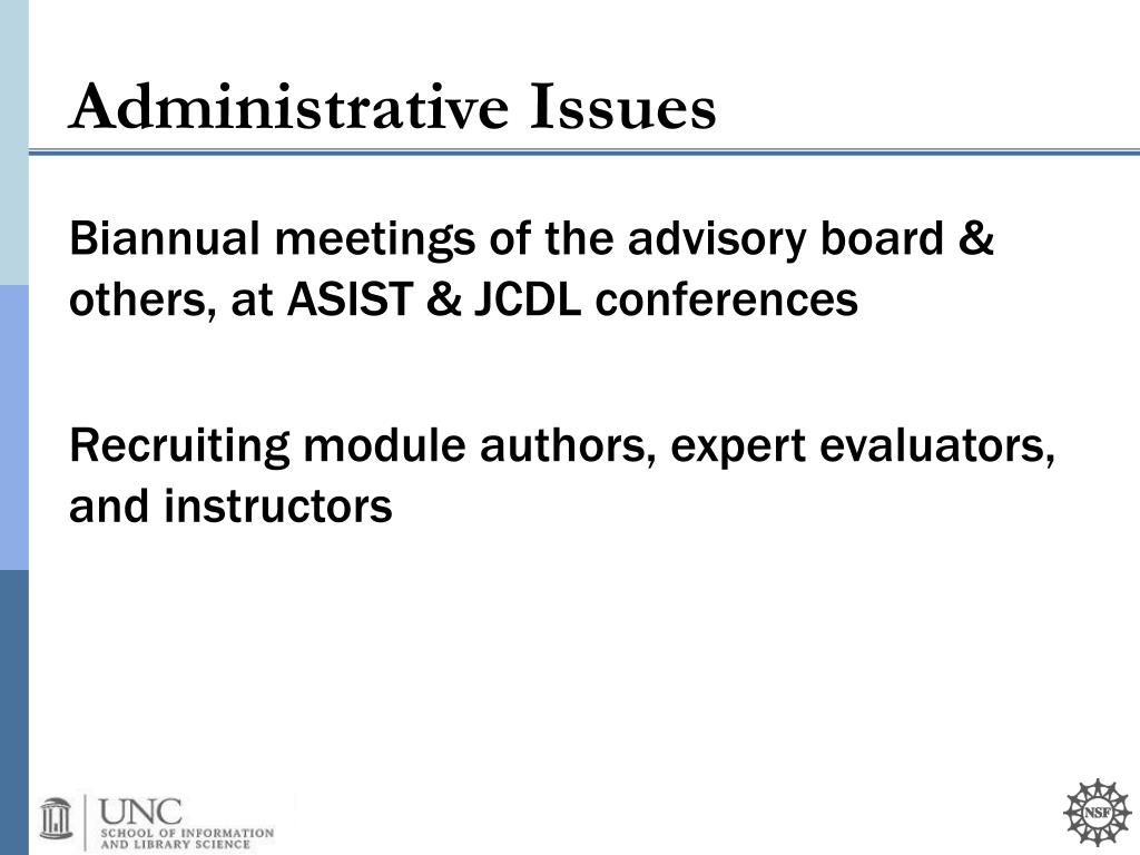 Biannual meetings of the advisory board & others, at ASIST & JCDL conferences