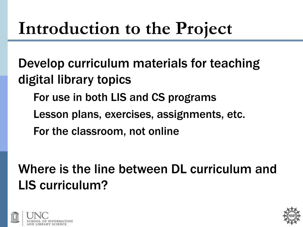 Develop curriculum materials for teaching digital library topics