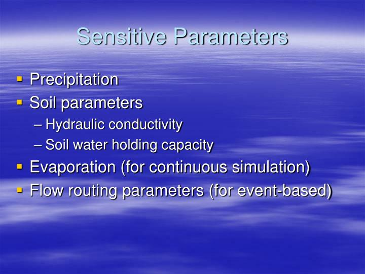 Sensitive Parameters
