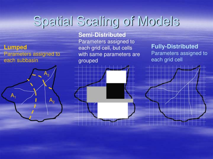 Spatial Scaling of Models