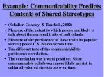 example communicability predicts contents of shared stereotypes