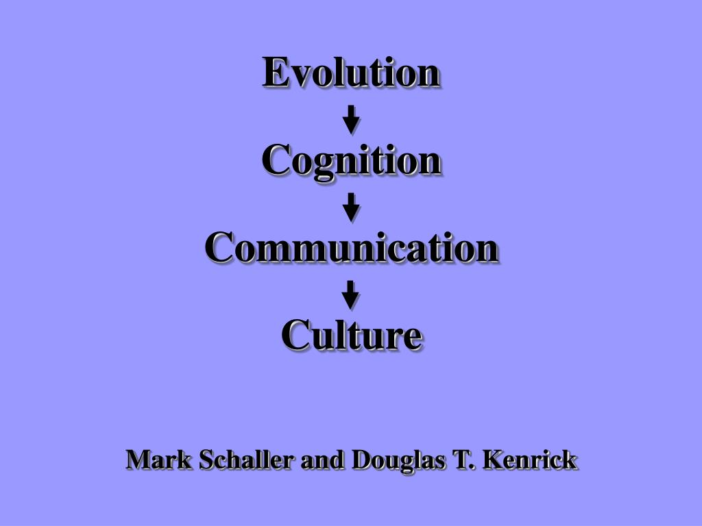 Mark Schaller and Douglas T. Kenrick