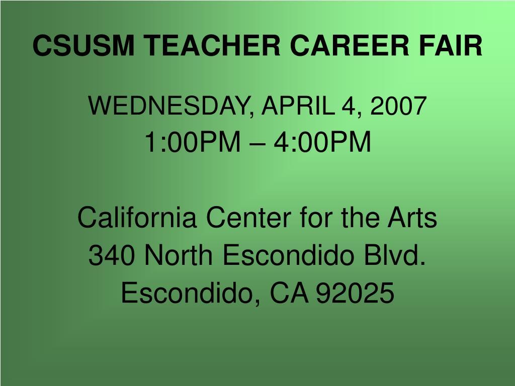 CSUSM TEACHER CAREER FAIR