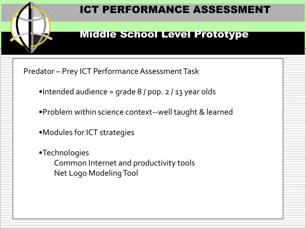 ICT PERFORMANCE ASSESSMENT