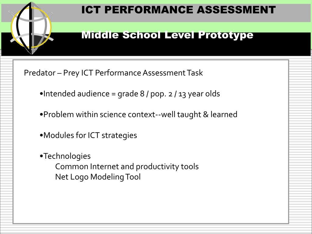 ICT PERFORMANCE ASSESSMENT