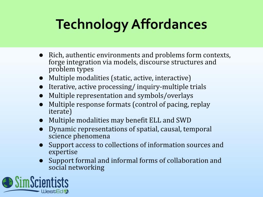 Technology Affordances