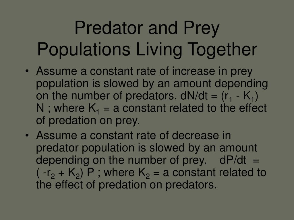 Predator and Prey Populations Living Together