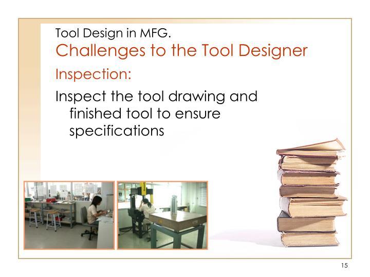 Tool Design in MFG.