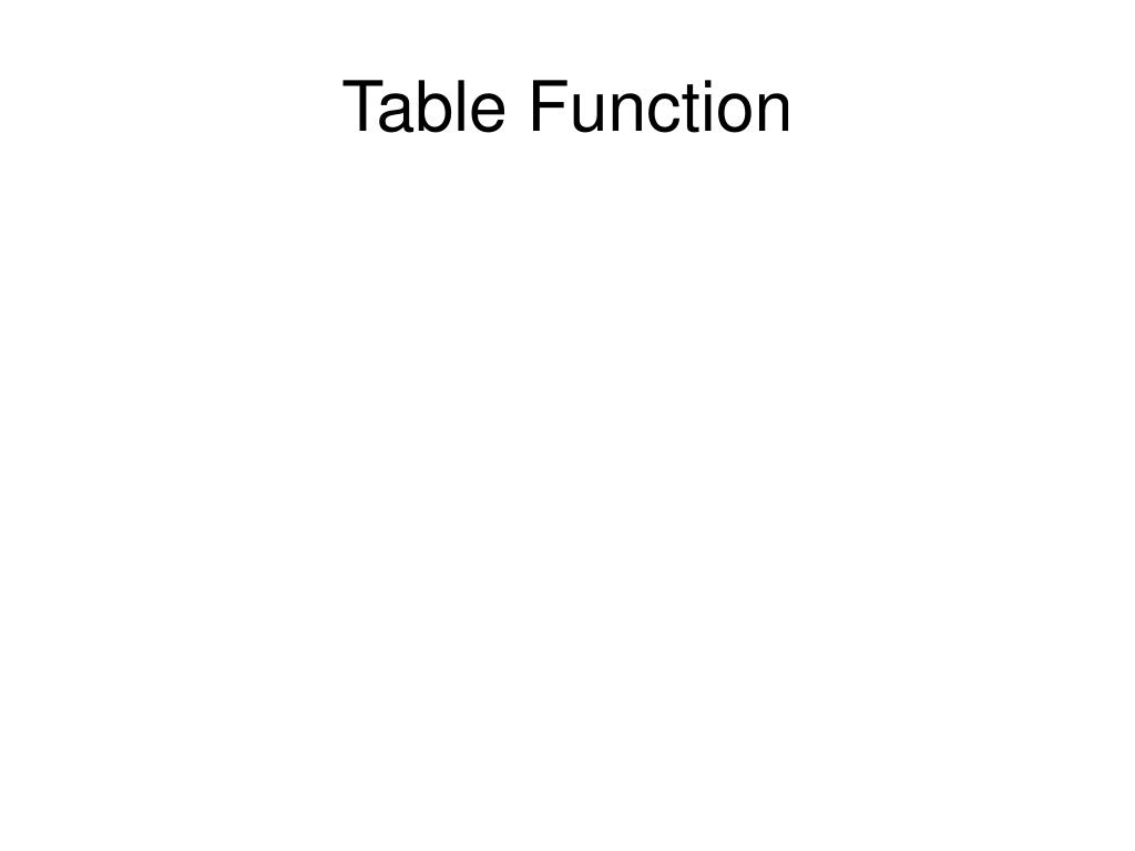 Table Function