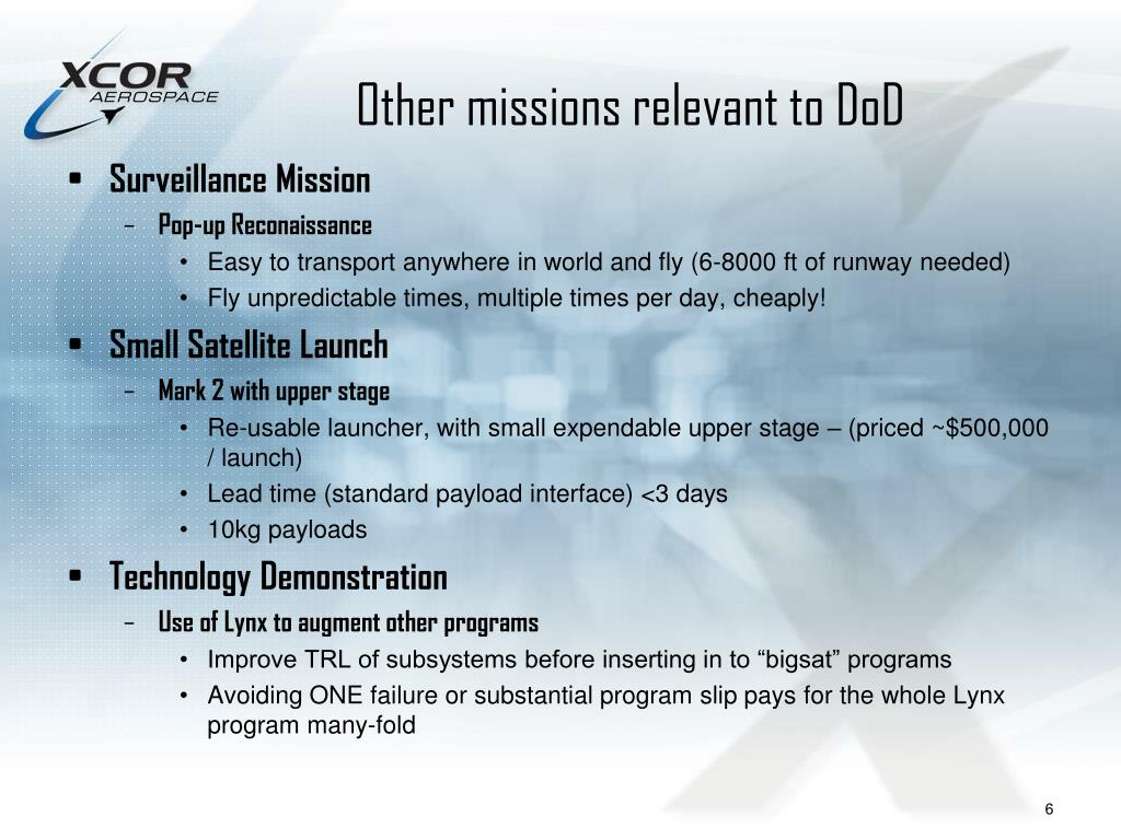 Other missions relevant to DoD