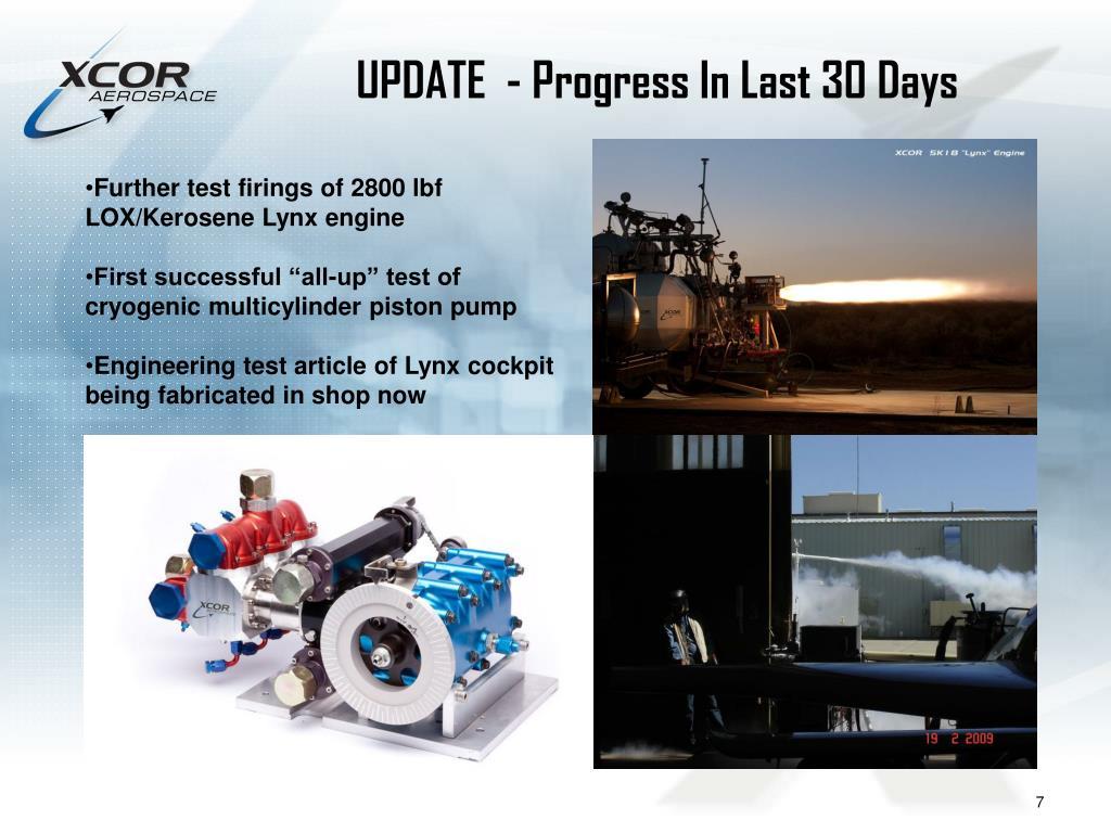 UPDATE  - Progress In Last 30 Days