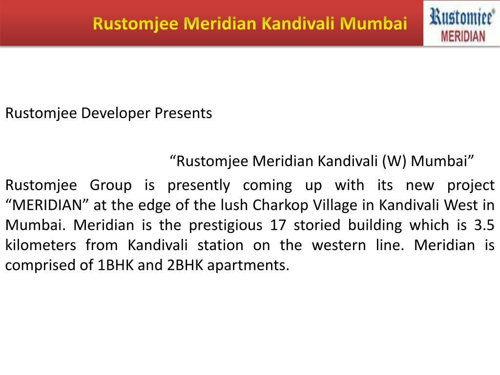 Rustomjee Meridian Kandivali Mumbai