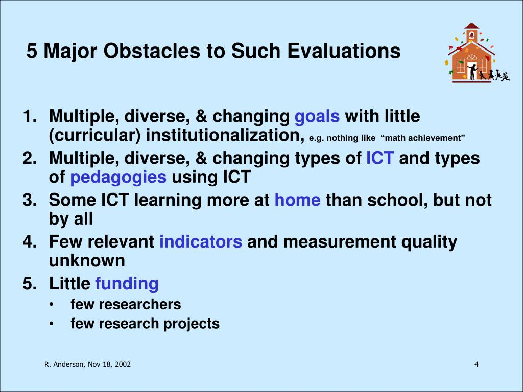 5 Major Obstacles to Such Evaluations