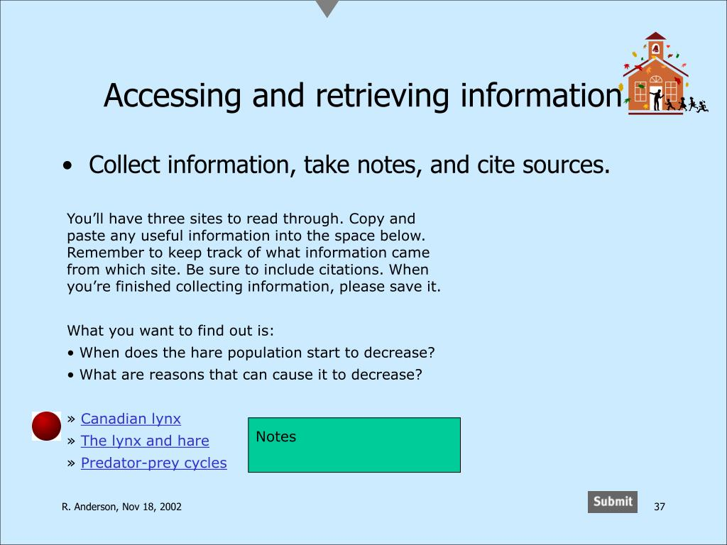 Accessing and retrieving information